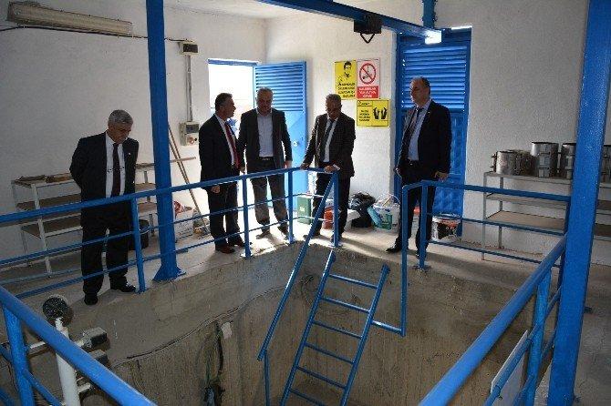 Teski Genel Müdürü Başa, Ergene-ulaş İçme Suyu Deposunda İncelemelerde Bulundu