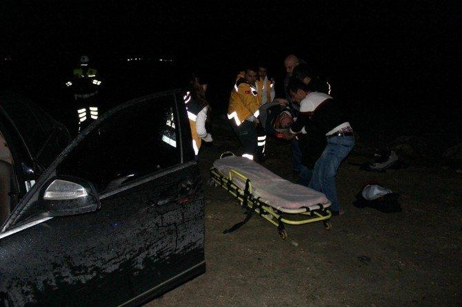 Saray'da Trafik Kazası: 1 Yaralı