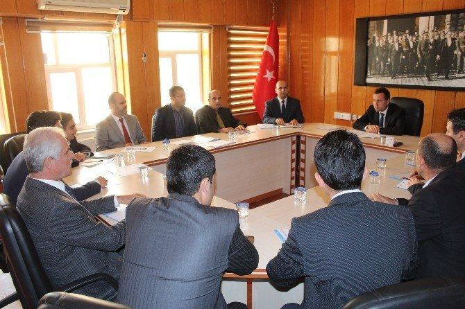 Samsat'ta İlçe İdare Şube Başkanları Toplantısı Yapıldı