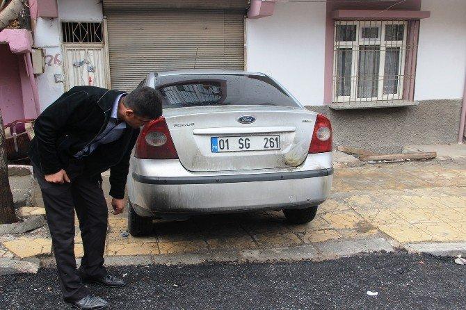 Gaziantep'te Oto Kundaklama Güvenlik Kamerasında