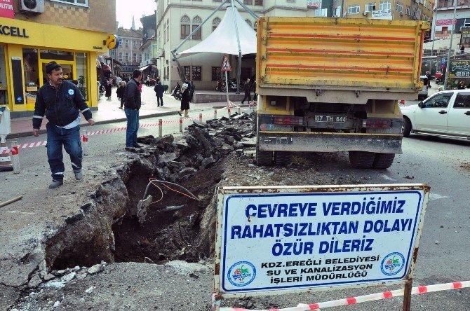 Kdz. Ereğli Belediyesi Su Taşkınlarına Önlem Alıyor