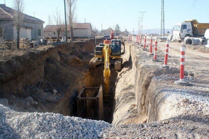 KOSKİ'den Akşehir'in İki Mahallesine Kanalizasyon Hizmeti