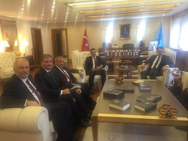 Malatya Heyeti, Bakanları Ziyaret Etti