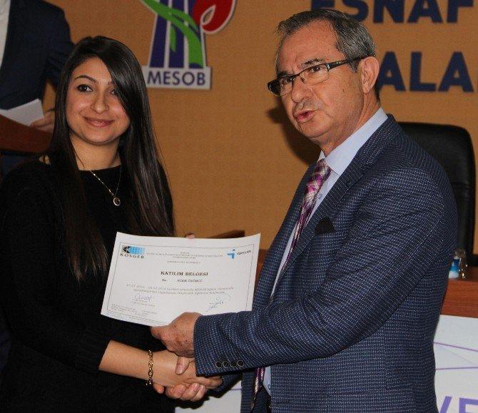 MESOB'un Kadın Girişimcileri Sertifikalarını Aldı