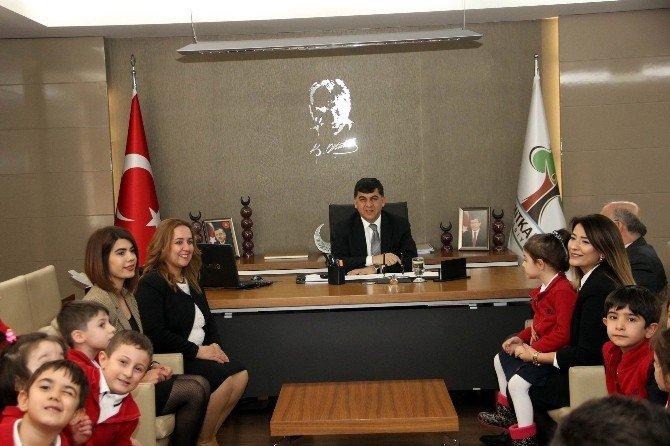 Minik GKV'liler Başkan Fadıloğlu'nu Ziyaret Etti