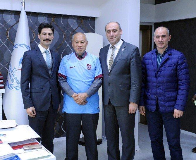Trabzon'da 3 Ay Judo Eğitimi Veren Mino Shojiro Görevini Tamamladı