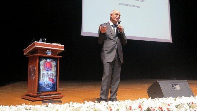 Niğde Üniversitesinde ''Bir Dava Adamı Mehmet Akif Ersoy'' Konulu Konferans Düzenlendi