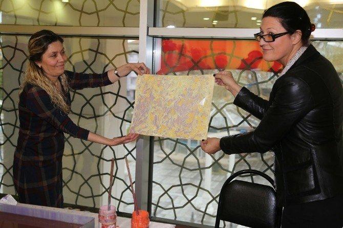 Erasmus Heyeti, 'Ebru' Sanatına Hayran Kaldı