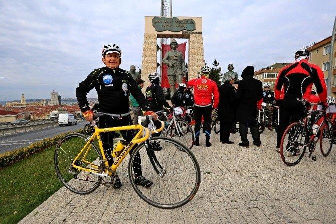 84 Yaşındaki Dedenin Bisikletle Çanakkale Çıkarması