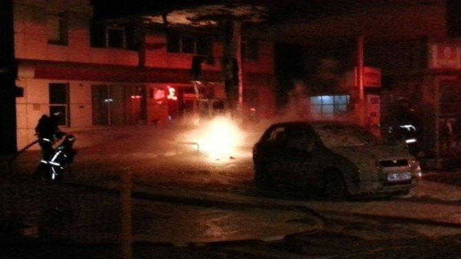 Akaryakıt İstasyonu'nda Korkutan Yangın