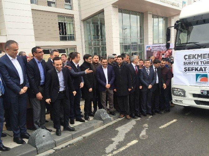 Çekmeköy'den Suriye Türkmenlerine Yardım Eli