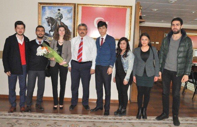 CHP Nazilli Gençlik Kolları'ndan Başkan Alıcık'a Ziyaret