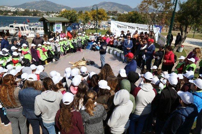 Bodrum Belediyesi Dalış Ekibi Bitez Koyunu Temizledi