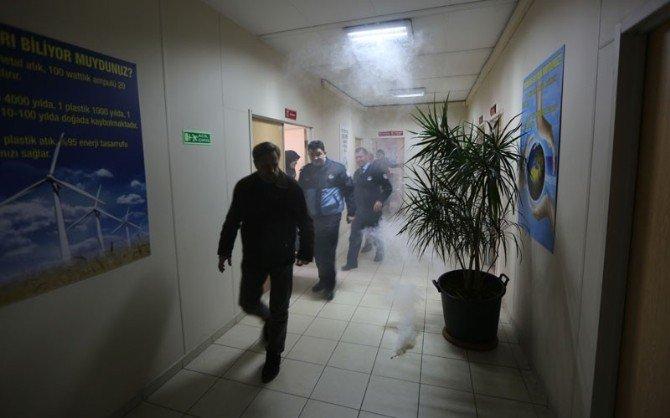 Belediye Personelinden Yangın Tatbikatı