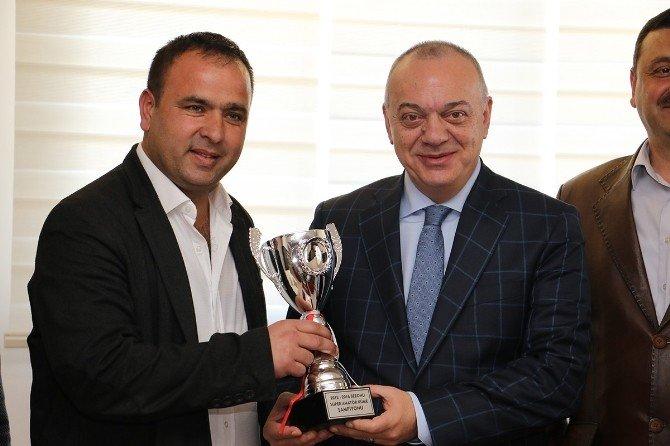 Şampiyon Alaşehir'den Başkan Ergün'e Ziyaret