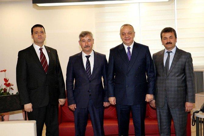 Başkanlar Saruhanlı'nın Projelerini Görüştü
