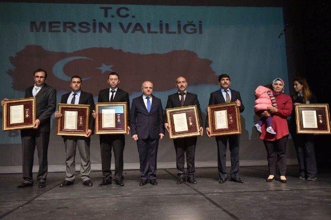 Mersin'de Devlet Övünç Madalyası Ve Beratları Tevcih Edildi
