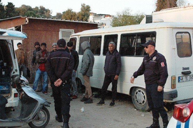 Bodrum'da Kaçakların Toplanma Merkezine Polis Baskını