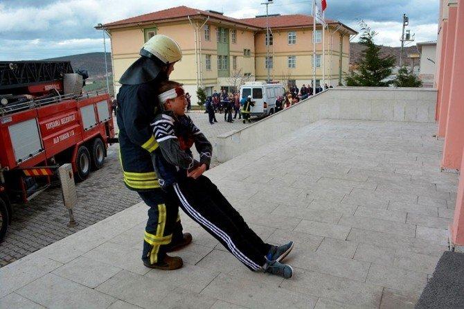 Okullarda Yangın Tatbikatı