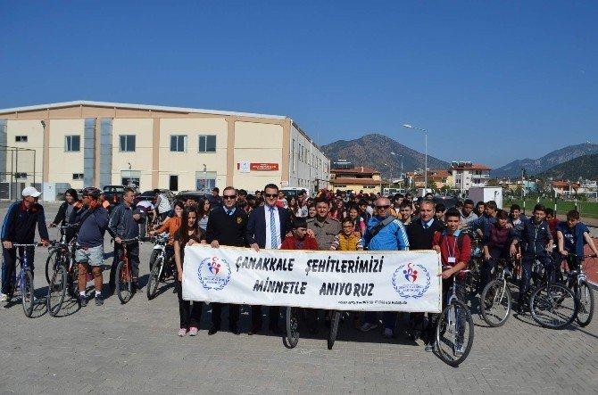 Ortacalı Bisikletçiler Çanakkale Şehitlerini Andı