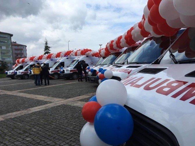 Giresun'da Ambulans Anahtar Teslim Töreni