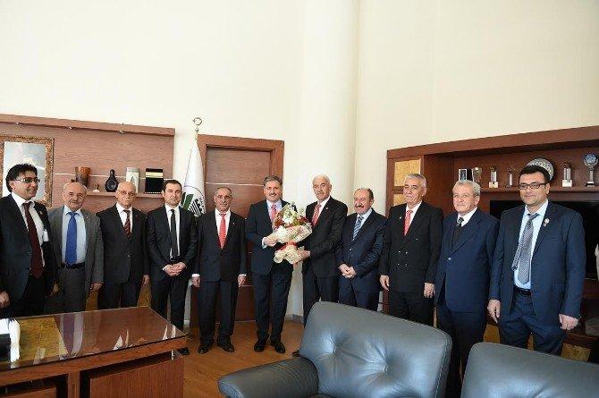 Şehit Ve Gazi Dernek Başkanlarından, Çakır'a Ziyaret
