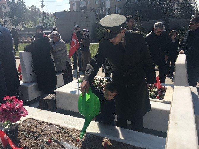 Cebeci Askeri Şehitliği'nde Tören
