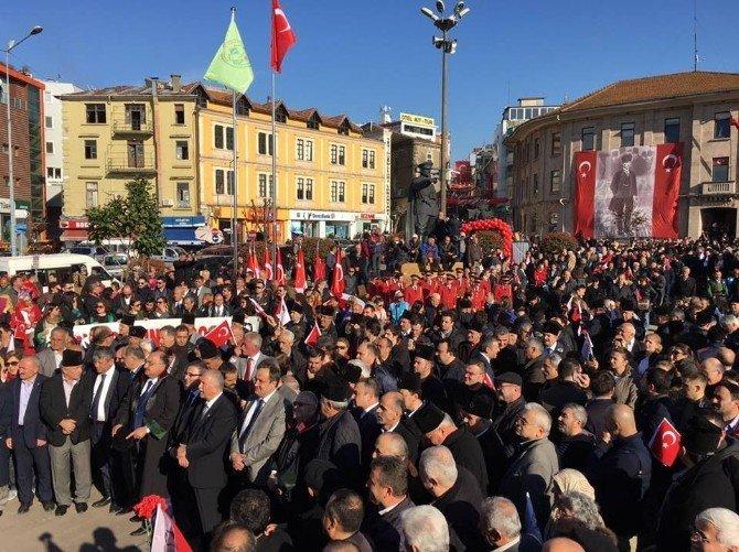 Giresun'da Teröre Karşı Birlik Yürüyüşü