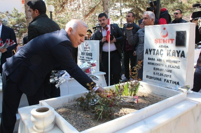 Elazığ'da Şehitler Saygı Atışı İle Anıldı
