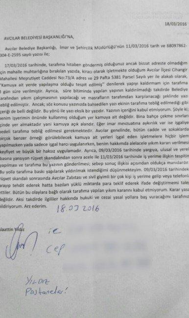 Avcılar'daki Rüşvet Mağduru Esnafa, AK Parti Sahip Çıktı