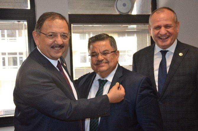 Başkanı Yağcı, AK Parti Genel Başkan Yardımcısı Mehmet Özhaseki İle Bir Araya Geldi