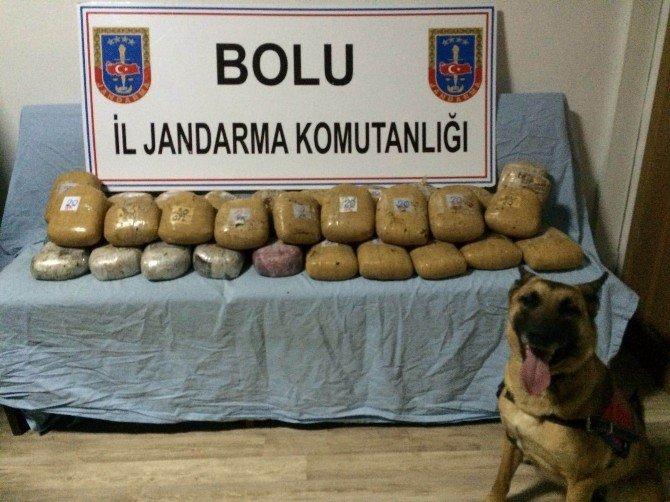 Bolu'da Jandarmadan Otomobil Ve Kamyona Operasyon