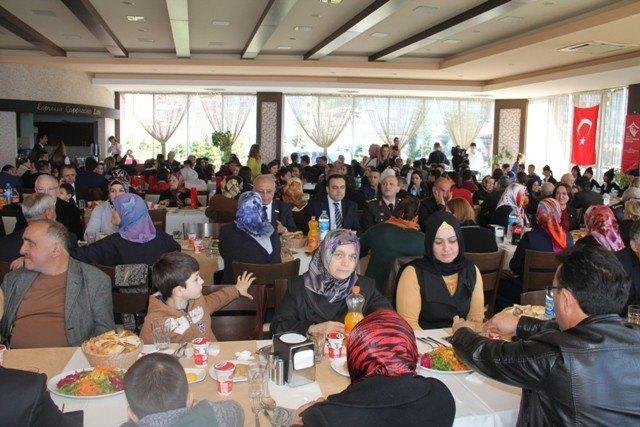 Giresun'da Şehit Aileleri Ve Gaziler Yemekte Buluştu