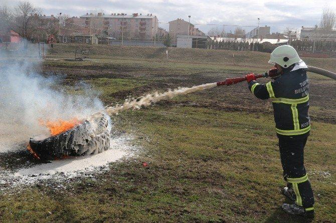 Kars Tugay Komutlanlığı'nda Yangın Tatbikatı