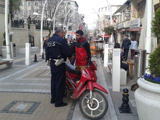 Malkara'da Motosiklet Denetimleri Sıklaştı