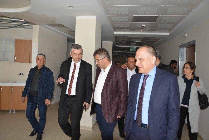 AK Parti Heyeti, Ortaca Devlet Hastanesi'nde İncelemelerde Bulundu