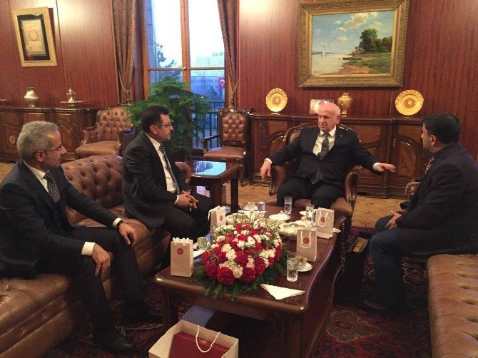 Başkan Genç'ten TBMM Başkanı Kahraman'a Ziyaret