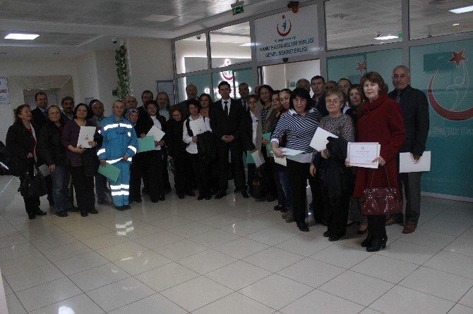 30 Yılını Dolduran Kamu Hastaneleri Birliği Personeline Teşekkür Belgesi