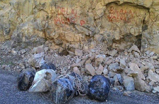 Tunceli'de 650 Kilo Patlayıcı Bulundu