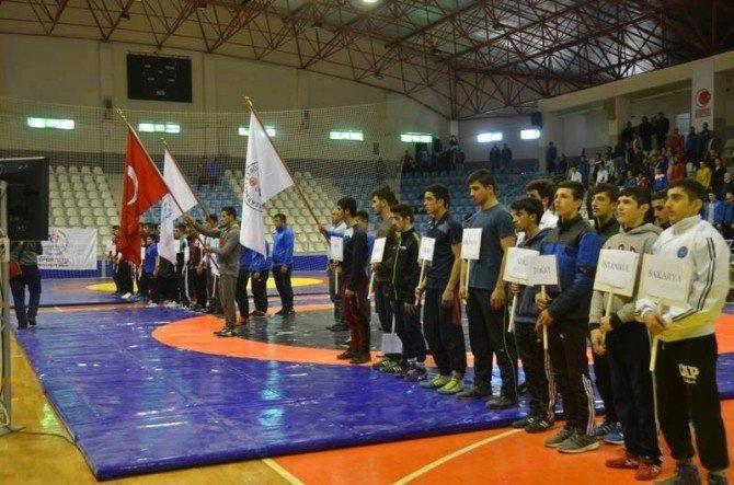 Gençler Serbest Güreş Turnuvası Tokat'ta Başladı