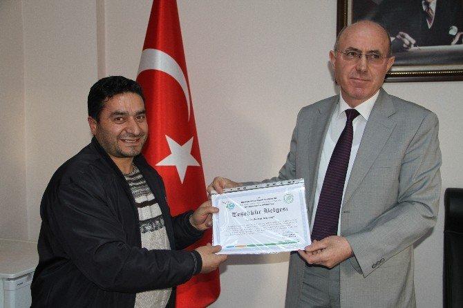 Yaban Hayata Gönüllü Yemleme Çalışması Yapanlar Ödüllendirildi