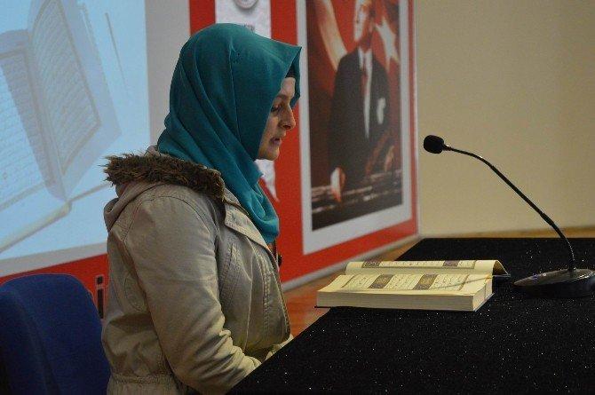 Kız Öğrenciler Kur'an-ı Kerim'i Güzel Okuyabilmek İçin Yarıştı