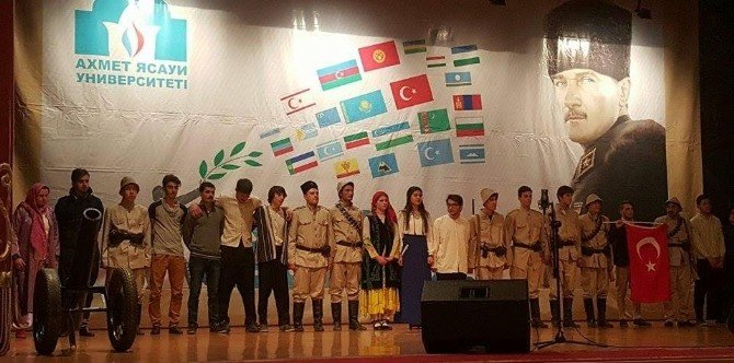Ahmet Yesevi Üniversitesi Çanakkale Şehitlerini Andı