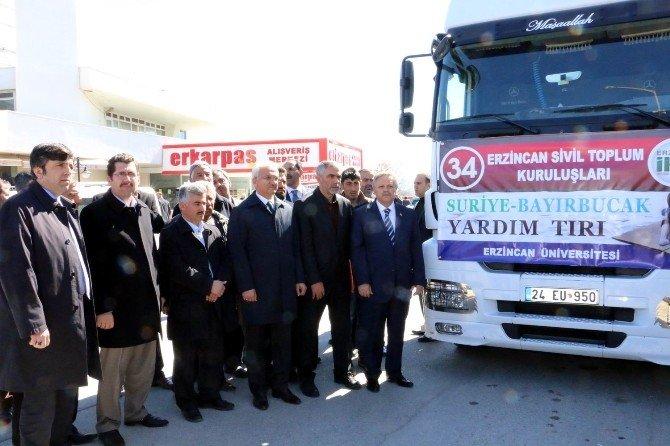 Erzincan'dan Bayırbucak Türkmenlerine Yardım