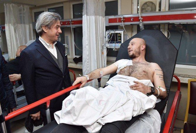 Beyoğlu Belediye Başkanı Demircan, Saldırıda Yaralananları Ziyaret Etti