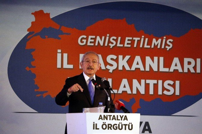 """CHP Genel Başkanı Kılıçdaroğlu: """"Türkiye Tampon Bölge Oldu"""""""