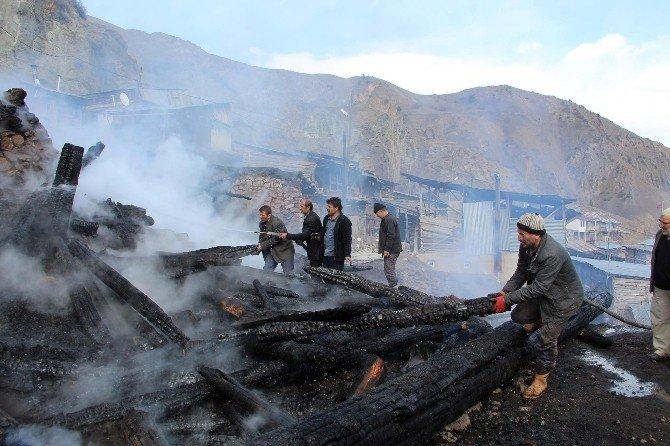 Oltu'da Korkutan Yangın