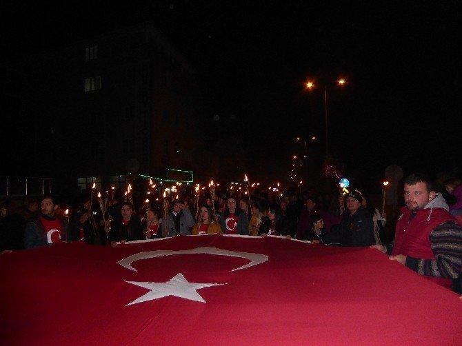 Çatalzeytin'de Teröre Tepki Yürüyüşü Yapıldı