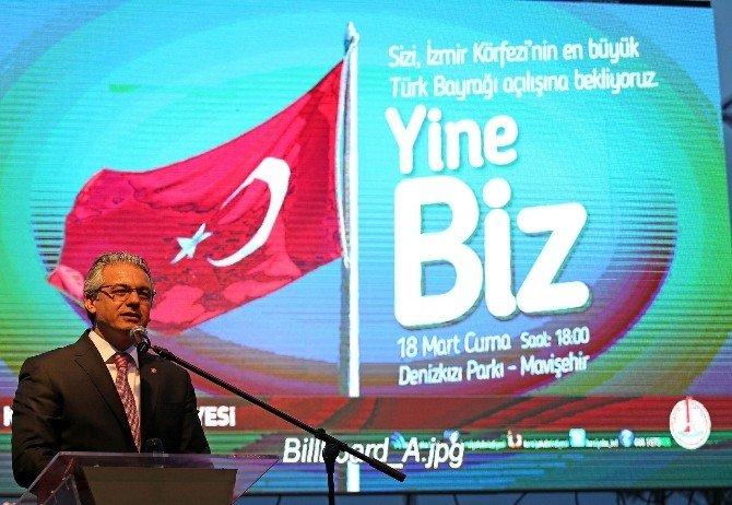 Körfez'in En Büyük Bayrağı Karşıyaka'da Dalgalandı