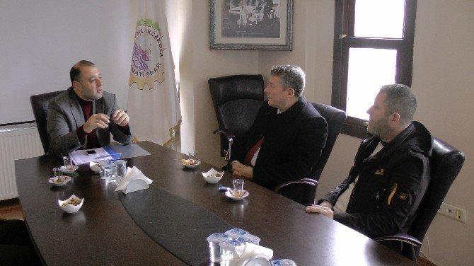 İHA Bölge Müdürü Çorbacı, ATSO Başkanı Pazvant'ı Ziyaret Etti